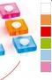Πόμολο τετράγωνο διάφορα χρώματα